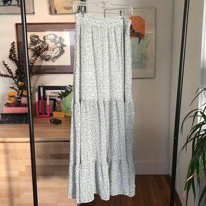 H&M Black & white speckled maxi skirt - size 8